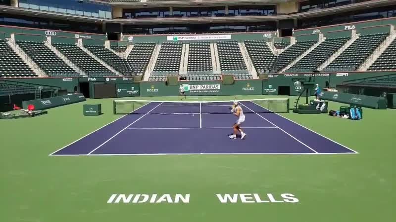 Looking forward to bringing you coverage from Indian Wells over the next 2 weeks for @TennisNewsTPN Great start to the day