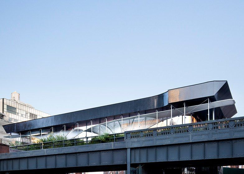 Zaha Hadid's High Line installation protects park visitors from construction debris
