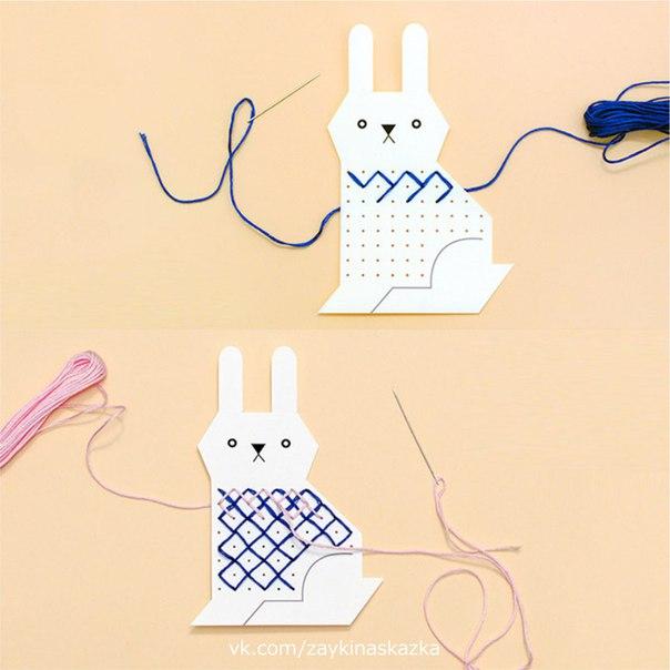 СВИТЕРОЧКИ ДЛЯ ЗВЕРЬКОВ Вышивание крестиком для детейЗверушкам холодно на улице. Давайте сделаем для них красивые тёплые свитерочки!Ход работы:1.Скачайте PDF-файл с шаблонами, прикреплённый к