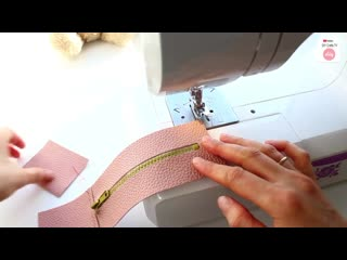 DIY LOVELY POUCH BAG __ Zipper Purse Bag Tutorial PU Lather Design