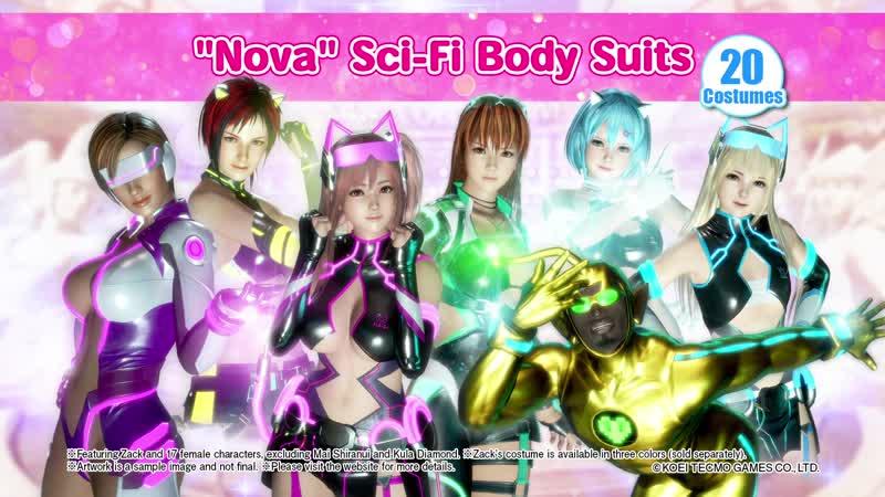 "DEAD OR ALIVE 6 - ""Nova"" Sci-Fi Body Suits Trailer"