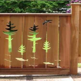 Декоративный забор.