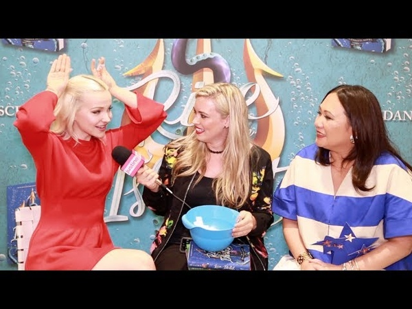 Justine Magazine Dove Cameron Melissa de la Cruz Talk Mal, Purple Hair Play a Game!