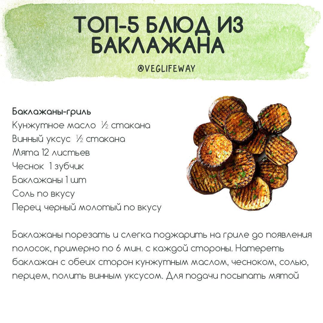 Подборка блюд из баклажана