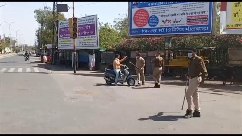 Indian Police Enforcing Lockdown In India