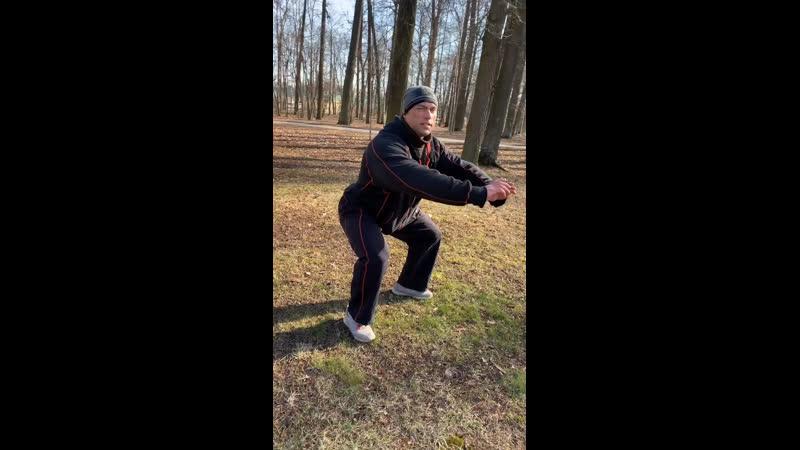 Тренировка в парке бег прыжки ускорения