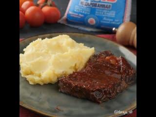 Нежная и сочная говядина в соусе барбекю  .