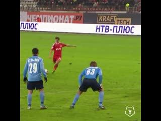 Первый гол Алиева со штрафного за Локомотив