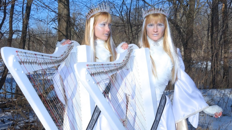 WITHIN TEMPTATION Ice Queen Harp Twins Camille and Kennerly HARP METAL