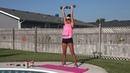 Yvette Bachman - Moderate intensity cardio, weights and core circuits   Интервальная тренировка умеренной интенсивности с гантелями (кардио силовые упражнения)