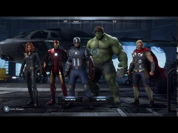 Marvel's Avengers Beta Small look at the menu settings gameplay