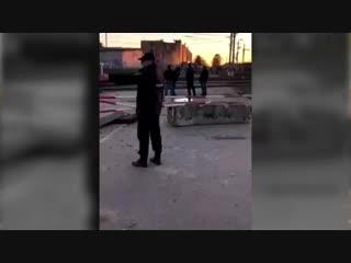 Взрыв в Гатчине (кадры с территории завода Авангард)