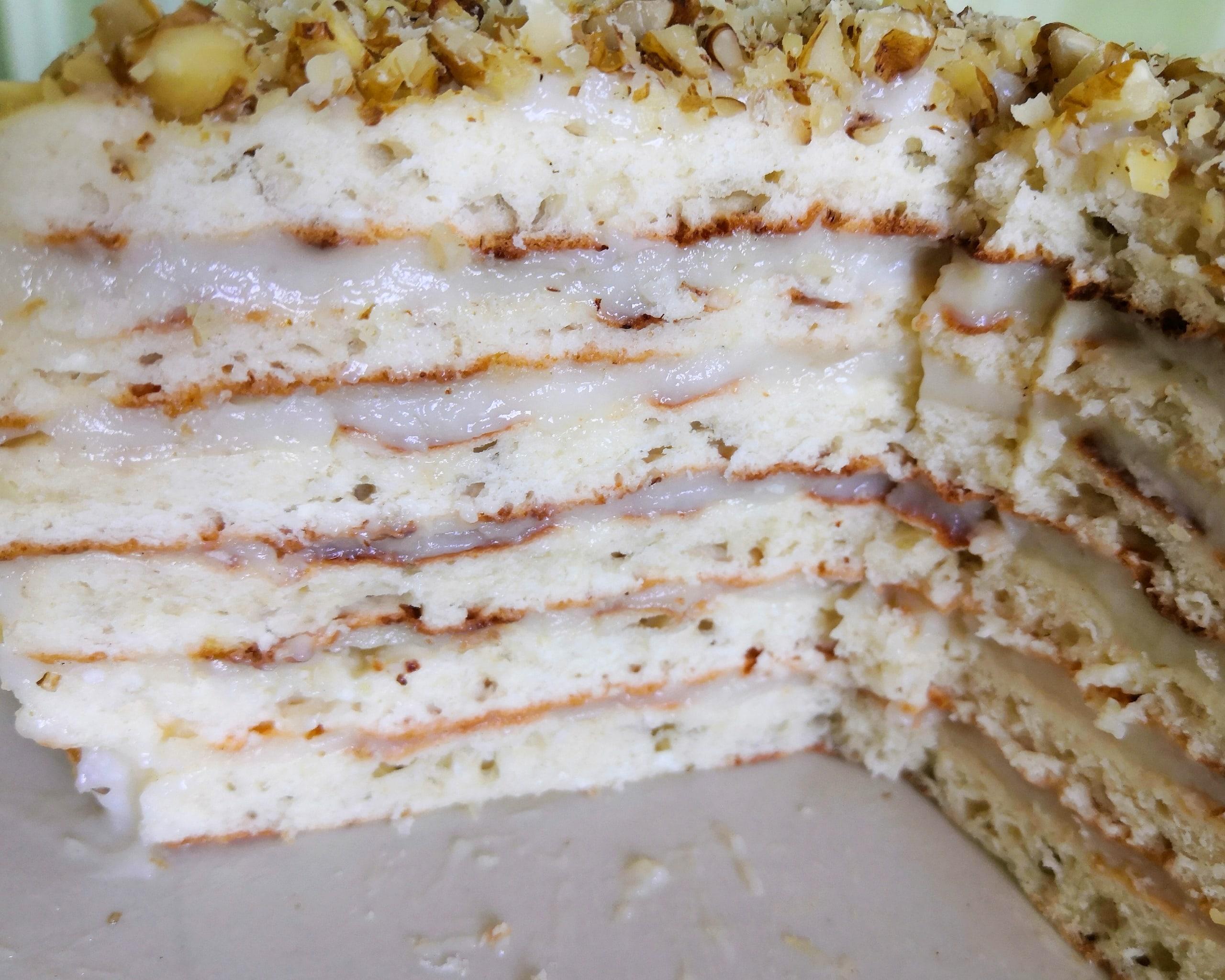 Творожный торт на сковороде с заварным кремом HgZx0S4qHU8