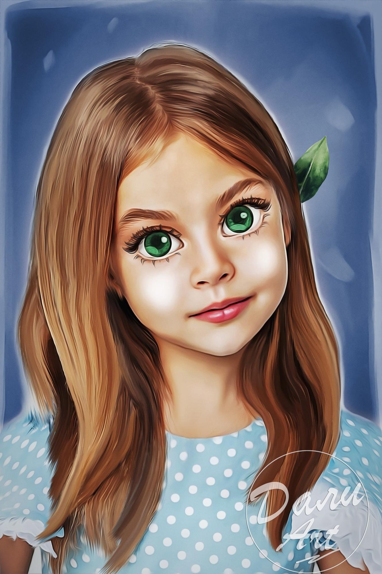 Российская художница превращает детские фотографии в очаровательные мультяшные п