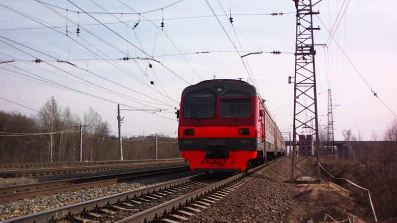 Электропоезд Сборная солянка ЭД4М 0156 прибывает в Жилево
