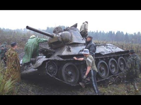 Раскопки огнеметного танка Великой Отечественной войны ОТ 34 76