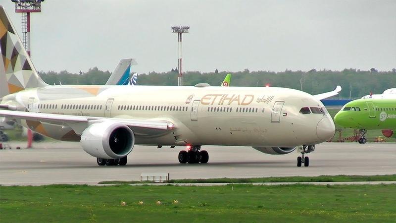В Москву прилетел самый длинный Dreamliner Boeing 787 10 Etihad Airways Домодедово 2020
