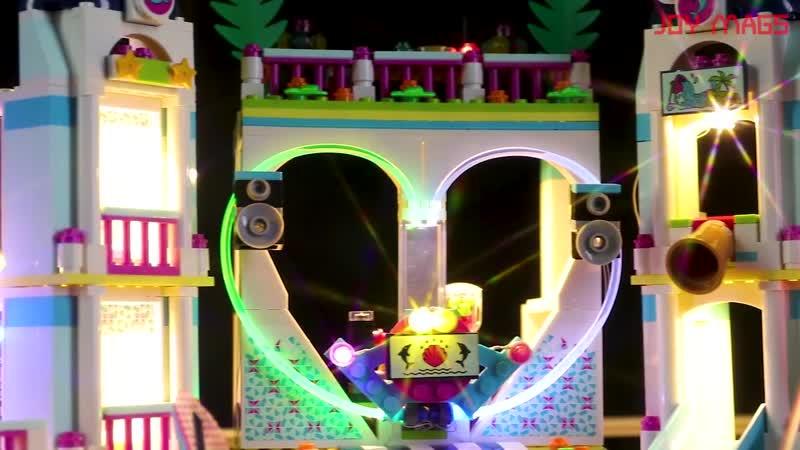 Joy mags только набор светодиодных ламп для 41347 друзей серии heartlake city курортный комплект освещения совместим с