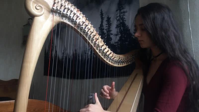 Elanor Skumringens Omfavn Vàli harp cover