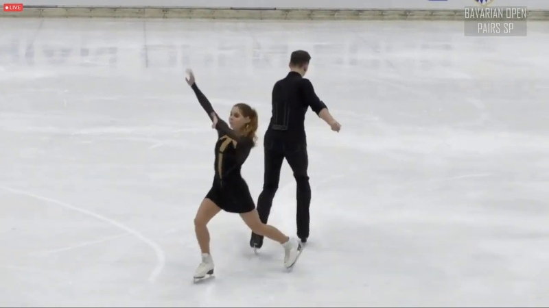 Anastasiia MISHINA Alexsandr GALLIAMOV SP Bavarian Open 2020
