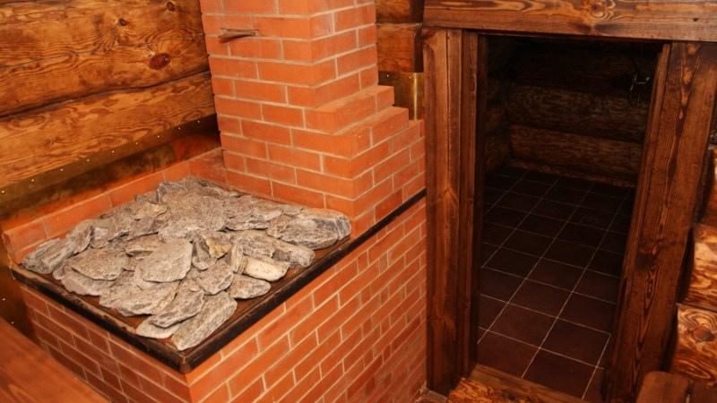 Кирпичная печь-каменка для бани.