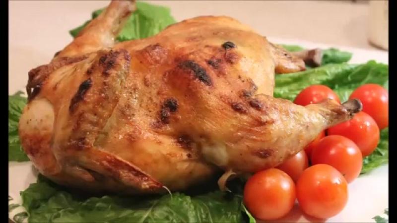 Курица запеченная в духовке с хрустящей корочкой