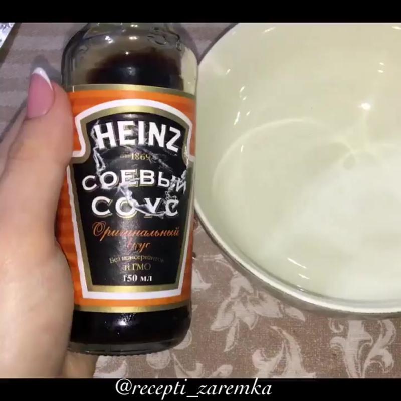 Запечённая курочка с картошкой и грибами в соево-медовом соусе