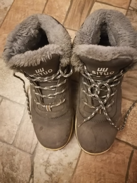 Отдам обувь на девочкуЗимние ботинки цвет серый с ...