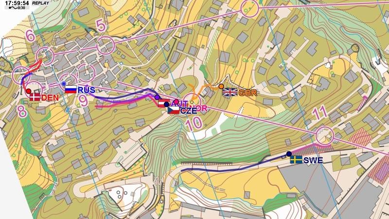 EOC 2018 Sprint Relay Last Leg GPS replay