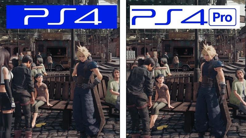 Final Fantasy VII Remake PS4 VS PS4 Pro Final Version Graphics FPS Comparison