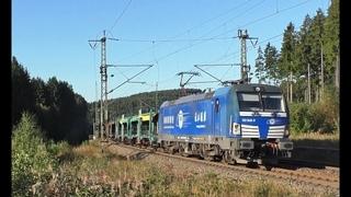 Hupac Taurus mit Classic Courier, MEG 218 + Messzug, Twindexx Makro uvm. auf der Frankenwaldbahn