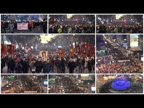 Milo Ne damo ti svetinje odjekuje Beogradom sve do Hrama Svetog Save