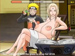 Naruto x Tsunade - game; big tits; masturbation; tittyfuck; paizuri; doggystyle; vaginal fucked; 3D sex porno hentai; [Naruto]