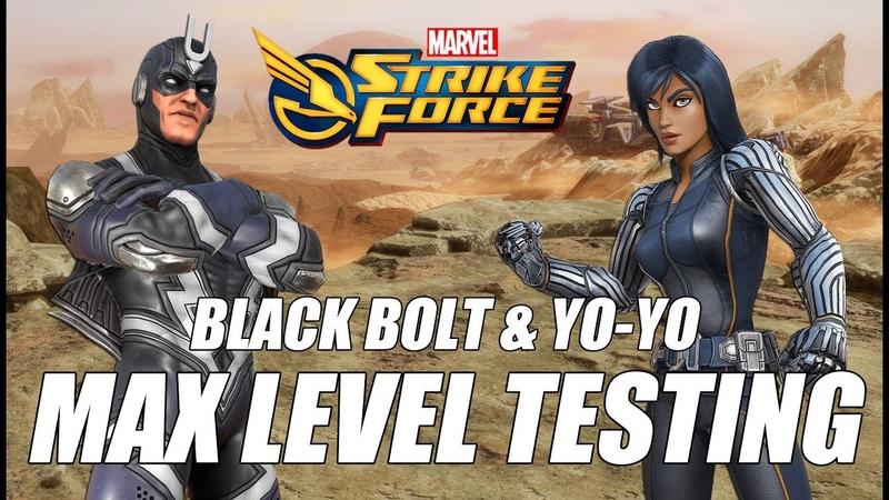 How far can Max Level Black Bolt Yo Yo go in Ultimus VII Marvel Strike Force