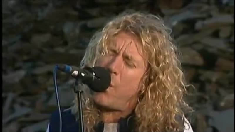 Jimmy Page and Robert Plant When the Levee Breaks On top of a waste tip at a slate quarry in Wales 17 August 1994