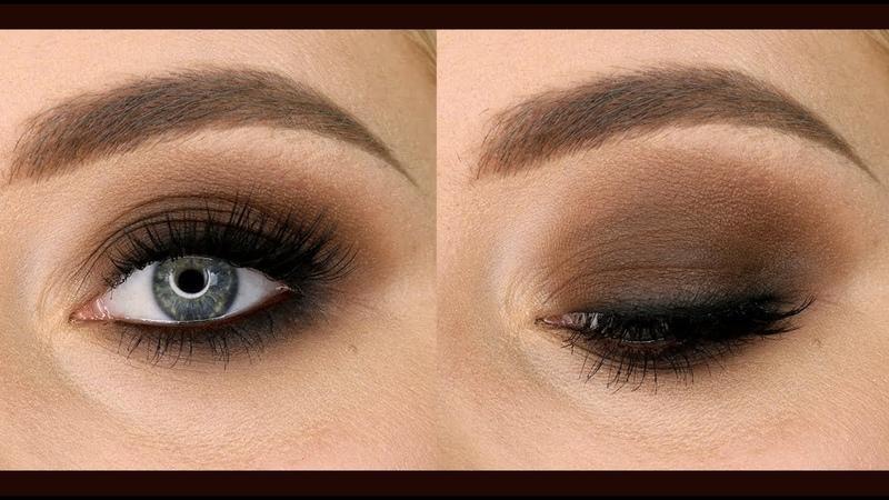 Коричневый смоки айс Brown smokey eyes дымчатый макияж
