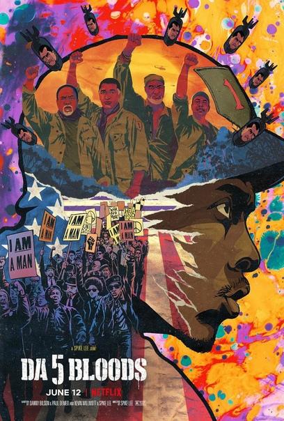 Цветастый постер военного фильма от Спайка Ли «Da 5 Bloods»
