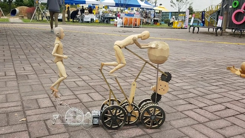 Artista de Rua - Marionetes * Chineses Criativos !!
