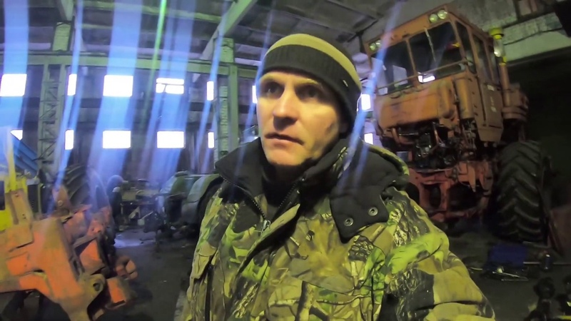 Трактор Кировец Сборка трубы горизонтального шарнира трактора К 701М