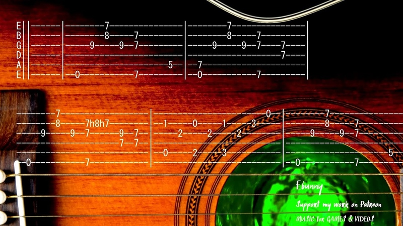 Celtic Medieval Music Fantasy Full Acoustic Guitar Tab by Ebunny Fingerstyle How to Play