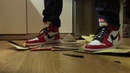 Nike Air Jordan, stomp, trample and destroy some old vinyl LP records / plates