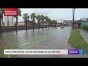 Gulf rain causes major street flooding in Galveston Texas