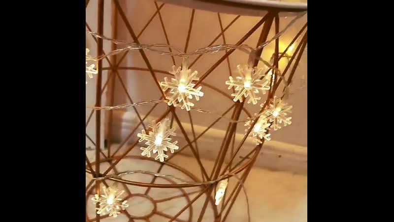 Светодиодный светильник в виде снежинок s String ЕС США