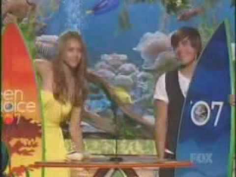 Zac Efron And Jessica Alba Wins 07 Teen Choice Awards