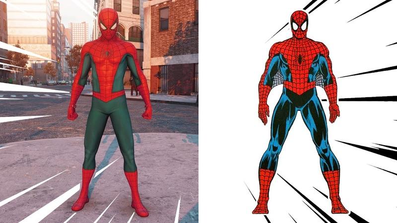 СРАВНЕНИЕ Прототипы костюмов Человека Паука из игры Marvel's Spider Man