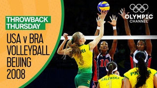 Brazil Women beat USA for their first Volleyball Gold Beijing 2008 Throwback Thursday
