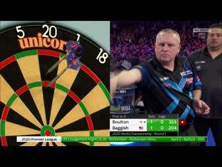 Andy Boulton vs Danny Baggish (PDC World Darts Championship 2020 / Round 1)