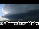 Storm in rapid city. South Dakota 10 July 2020 hail storm