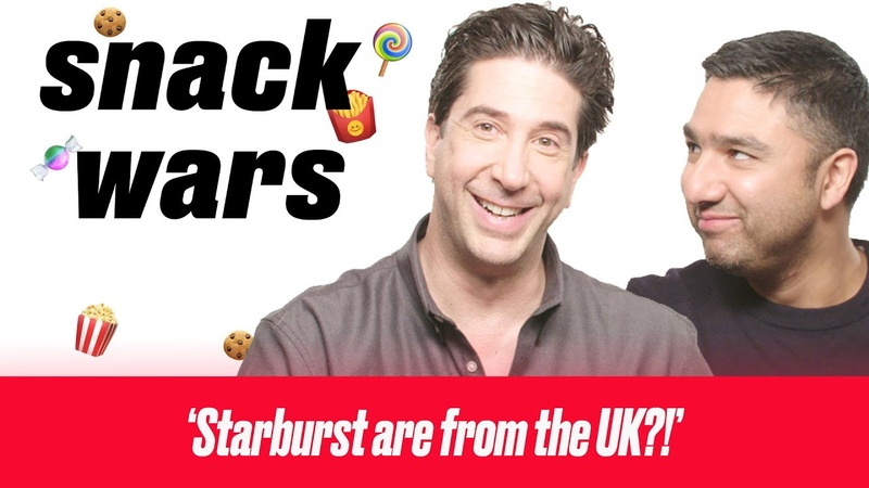David Schwimmer HATES Some Of These British Snacks   Snack Wars   LADbible