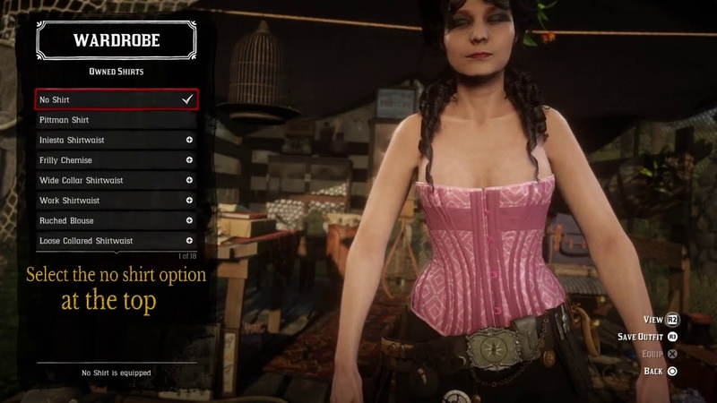 Red Dead Online How to Wear Only a Corset With No Shirt